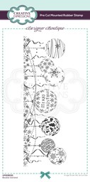 Bild von Creative Expressions Designer Boutique Pre Cut Rubber Stamp-Bauble Garland Dl