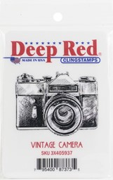 "Bild von Deep Red Cling Stamp 2.1""X1.6""-Vintage Camera"