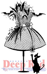 "Bild von Deep Red Cling Stamp 2""X3.1""-Halloween Dress Form"