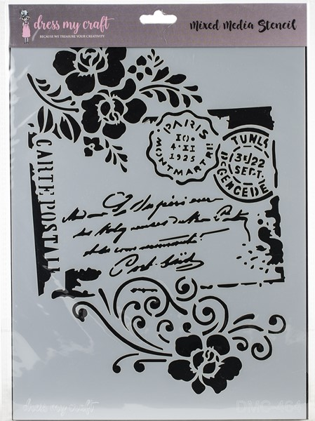 Bild von Dress My Craft Stencil A4-Carte Postal