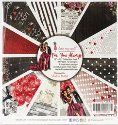 "Bild von Dress My Crafts Single-Sided Paper Pad 12""X12"" 24/Pkg-For You Always, 12 Designs/2 Each"