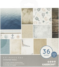 "Bild von Kaisercraft Paper Pad 6.5""X6.5"" 40/Pkg-Uncharted Waters"