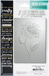 "Bild von Memory Box 3D Embossing Folder 4.5""X5.75""-Magnificent Sunflower"