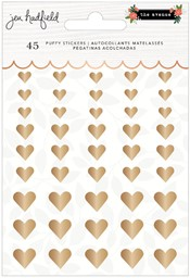 Bild von Jen Hadfield The Avenue Puffy Stickers 45/Pkg-Hearts