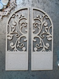 "Bild von Scrapaholics Laser Cut Chipboard 1.8mm Thick-Arched Florish Door, 2/Pkg, 5""X3.75"""