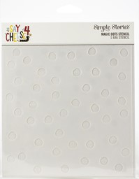 "Bild von Simple Stories Say Cheese 4 Stencil 6""X6""-Magic Dots"