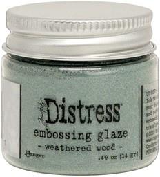 Bild von Tim Holtz Distress Embossing Glaze -Weathered Wood