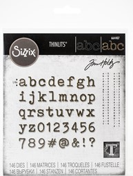 Bild von Sizzix Thinlits Dies By Tim Holtz-Alphanumeric Tiny Type Lower