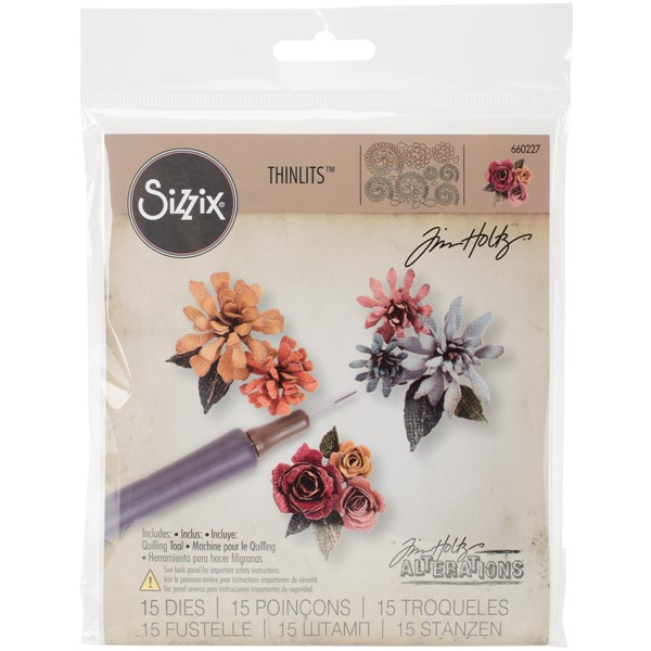 Bild von Sizzix Thinlits Dies By Tim Holtz 15/Pkg-Tiny Tattered Florals
