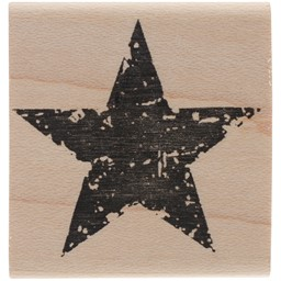 "Bild von Tim Holtz Mounted Red Rubber Stamp 1.5""X1.5""-Star Silhouette"