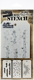 Bild von Tim Holtz Mini Layered Stencil Set 3/Pkg-Set #38