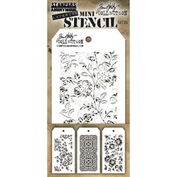Bild von Tim Holtz Mini Layered Stencil Set 3/Pkg-Set #25