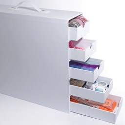 Bild von Totally-Tiffany Stash And Store 5-Drawer Case-White