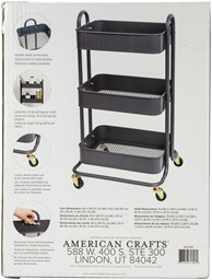 Bild von We R A La Cart Storage Cart With Handles-Burnt Ash