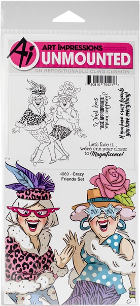 Bild von Art Impressions Stempel Girlfriends Cling Rubber Stamps -Crazy Friends