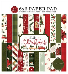 "Bild von Carta Bella Double-Sided Paper Pad 6""X6"" 24/Pkg-Hello Christmas, 12 Designs/2 Each"