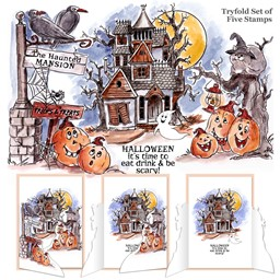 Bild von Art Impressions TryFolds Cling Rubber Stamps -Haunted House