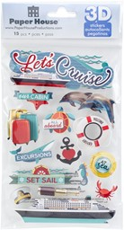 "Bild von Paper House 3D Stickers 4.5""X7.5"" -Let's Cruise"