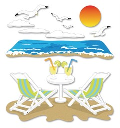 Bild von Jolee's Boutique Dimensional Stickers-Beach Leisure