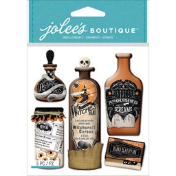 Bild von Jolee's Boutique Dimensional Stickers-Vintage Bottles & Labels