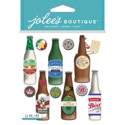Bild von Jolee's Boutique Dimensional Stickers-Beer Bottles