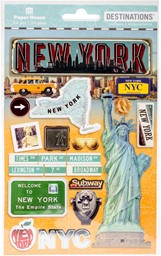 "Bild von Paper House 2-D Stickers 4.5""X7.5"" -Travel New York City"