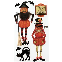 Bild von Jolee's Halloween Stickers-Moveable Jack-O'-Lanterns
