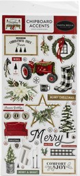 "Bild von Farmhouse Christmas Chipboard 6""X13""-Accents, Farmhouse Christmas"