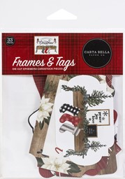 Bild von Carta Bella Cardstock Ephemera 33/Pkg-Frames & Tags, Farmhouse Christmas