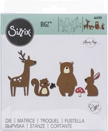 Bild von Sizzix Bigz Die By Olivia Rose-Forest Friends