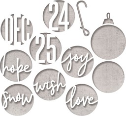 Bild von Sizzix Thinlits Dies By Tim Holtz-Circle Words, Christmas