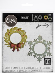 Bild von Sizzix Thinlits Dies By Tim Holtz-Wreath & Snowflake