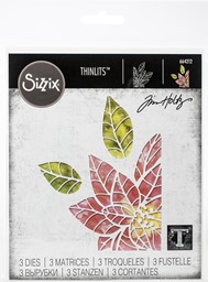 Bild von Sizzix Thinlits Dies By Tim Holtz-Poinsettia Pieces