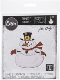 Bild von Sizzix Thinlits Dies By Tim Holtz 11/Pkg-Mr. Snowman, Colorize