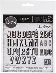 Bild von Sizzix Thinlits Dies By Tim Holtz 26/Pkg-Alphanumeric, Shadow Upper