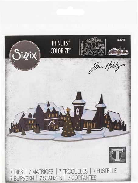 Bild von Sizzix Thinlits Dies By Tim Holtz 6/Pkg-Holiday Village Colorize