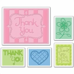 Bild von Sizzix Thank You Set #3 Embossing Schablone