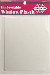 "Bild von Judikins Embossable Window Plastic Sheets 4.25""X5.5"" 20/Pkg-Clear"