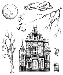 "Bild von Tim Holtz Cling Stamps 7""X8.5""-Sketch Manor"