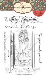 "Bild von Colorado Craft Company Clear Stamps 4""X6""-Winter Season Poinsettia-Lovely Legs"