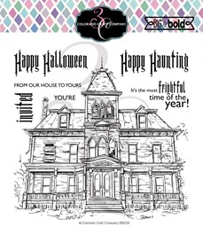 "Bild von Colorado Craft Company Clear Stamps 6""X6""-Haunted House-Big & Bold"