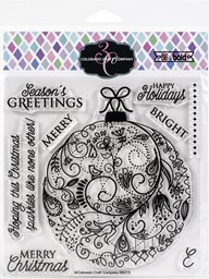 "Bild von Colorado Craft Company Clear Stamps 6""X6""-Holiday Ornament-Big & Bold"