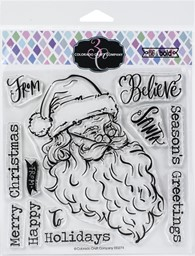 "Bild von Colorado Craft Company Clear Stamps 6""X6""-Vintage Santa-Big & Bold"
