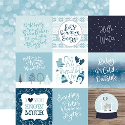 "Bild von Winter Magic Double-Sided Cardstock 12""X12""-4""X4"" Journaling Cards"