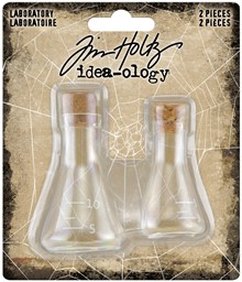 "Bild von Idea-Ology Small Corked Glass Flasks 2/Pkg-Laboratory 2"" To 2.375"""
