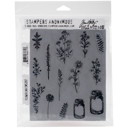 "Bild von Tim Holtz Cling Stamps 7""X8.5""-Flower Jar"