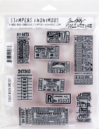 "Bild von Tim Holtz Cling Stamps 7""X8.5""-Ticket Booth"