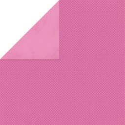 "Bild von BoBunny Double Dot Double-Sided Textured Cardstock 12""X12""-Pink Punch"