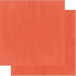 "Bild von BoBunny Double Dot Double-Sided Textured Cardstock 12""X12""-Poppy"