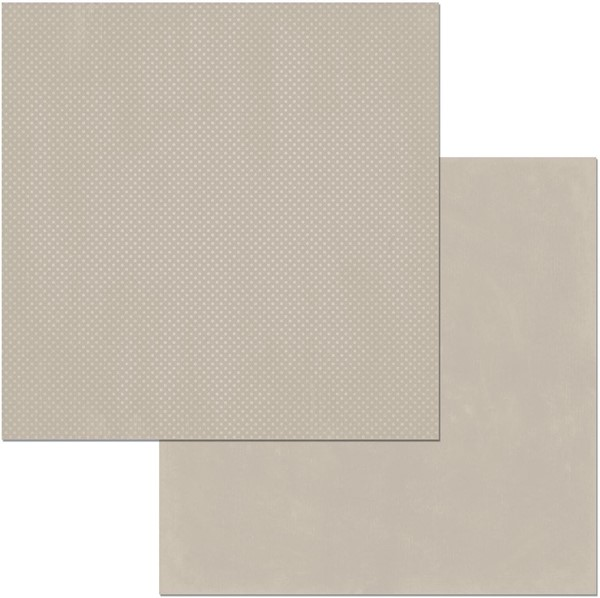 "Bild von BoBunny Double Dot Double-Sided Textured Cardstock 12""X12""-Taupe"